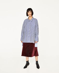 ZARA - EDITORIALS - PLEATED MIDI SKIRT