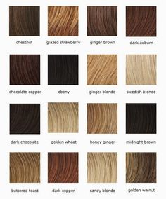 shades of light brown hair color chart. Which one looks the most like my hair?