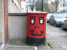 Friendly post box in Westminster.