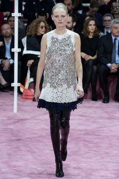 Christian Dior Spring 2015 Couture - Collection - Gallery - Style.com Looks like vintage lace and sequin combined