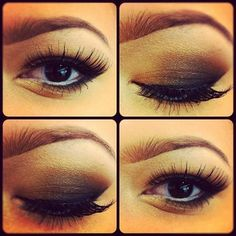 Gorgeous makeup, using gold, charcoal grey and black eyeshadow and black eyeliner. Add a pair of or authentic from MinkiLashes to accentuate the best features of the hooded eyes. Gorgeous Makeup, Love Makeup, Makeup Looks, Hair Makeup, Glam Makeup, Smoky Eye Makeup, Hooded Eye Makeup, Smokey Eye, Hooded Eyes