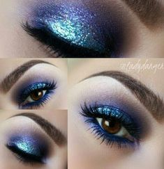 Maroon Eye Makeup For Blue Eyes & Loose Glitter Eyeshadow Ulta. Eye Makeup Ideas Step By Step its Eye Makeup Tutorial For Brown Eyes Blonde Hair his Mac Glitter Eyeshadow Palette Price In India Gorgeous Makeup, Pretty Makeup, Love Makeup, Beauty Makeup, Makeup Art, Teal Makeup, Amazing Makeup, Galaxy Makeup, Glitter Eye Makeup