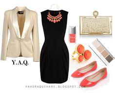 vestido negro y accesorios