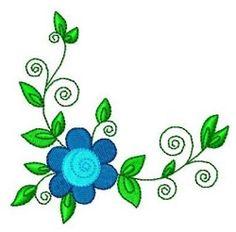 Swirly Flowers 6 - 4x4 | What's New | Machine Embroidery Designs | SWAKembroidery.com Fun Stitch