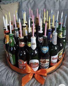 21st Birthday, Birthday Presents, Birthday Wishes, Birthday Present Diy, Father Birthday Gifts, Birthday Beer, Homemade Gifts, Diy Gifts, Diy Cadeau Noel