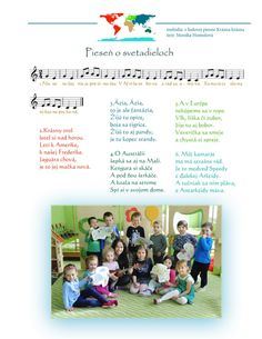 Svetadiely hrou - M. Homolová Preschool Education, Montessori, Map, Children, Geography, Planets, Continents, Africa, Projects