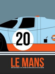 Porsche 917 Gulf Edition - Le Mans Poster #coolhunter #racing