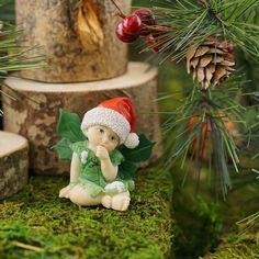 Miniature Fairy Garden Christmas Fairy Baby - My Fairy Gardens
