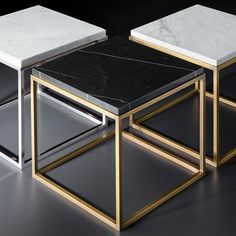 RH Modern's Nicholas Marble Side Table:Pairing marble& luminous warmth with metal& cool luster, this table designed by the Van Thiels is a study in complementary contrasts. Modeled after a French original, it is a striking surface for display. Marble Furniture, Steel Furniture, Furniture Design, Corner Furniture, Furniture Ads, Refurbished Furniture, Furniture Layout, Plywood Furniture, Repurposed Furniture
