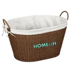 Home24h co,.ltd: Seagrass Storage Basket with Ear Handle