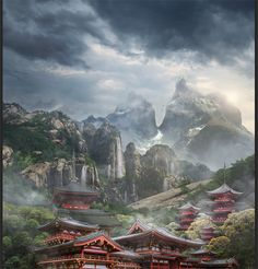 Learn how to create this beautiful mountain landscape in Photoshop. This tutorial shows how to develop a amazing and meditative landscape of the mysterious East theme out of a plain background using p
