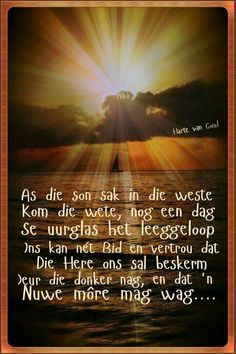Liewe Heer hou U wakende hand oor elkeen vanaand asb. Goeie Nag, Goeie More, Afrikaans Quotes, Christian Messages, Special Quotes, Day Wishes, Morning Greeting, Friend Pictures, Picture Quotes