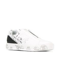 Premiata White laceless sneakers
