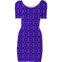 Navy Blue Pink Pattern Bodycon Dress from Print All Over Me