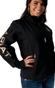 Ariat Women's Black Team Softshell Jacket | Cavender's