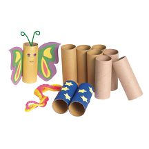 Loo rolls or kitchen roll tubes make great butterflies/fairies or whatever you like.