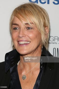 Actress Sharon Stone attends the 2015 Gersh Upfronts Party at Asellina at the Gansevoort on May 12, 2015 in New York City.