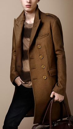 """Chesterfield Coat - tailored, long overcoat. Commonly worn by """"smart-dressed men."""""""