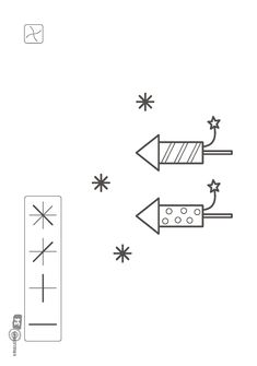Krullenbol | Activiteiten voorbereidend schrijven | Werkbladen | Thema winter | Thema Kerst | Thema oud en nieuw | 3e kleuterklas New Year's Crafts, Nouvel An, Happy New Year, Winter, School, English, Google, Bricolage, Noel
