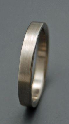Sleek and Simple - Titanium Wedding Bands
