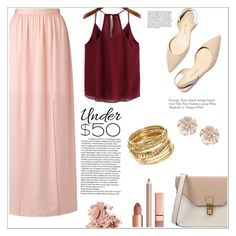 """""""Sweet day"""" by itzelbetancourt ❤ liked on Polyvore featuring Miss Selfridge, Paul Andrew, 8, ABS by Allen Schwartz, River Island, Dolce Vita, Bobbi Brown Cosmetics, under50 and skirtunder50"""