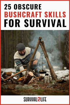 Upgrade your bushcraft skills with these 20+ wilderness survival ideas. #bushcraftskills #bushcraft #survivalskills #survival #survivallife Survival Hacks, Survival Life, Wilderness Survival, Camping Survival, Outdoor Survival, Survival Skills, Bushcraft Skills, Mast Cell, Eagle Scout