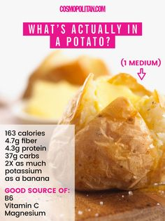 Are Potatoes That Bad for You? Cosmopolitan Getty ImagesPotatoes have been vilified by dieters for what feels like forever — but whether it's home fries with brunch, chips with you Spaghetti Squash Nutrition Info, Cooking Tips, Cooking Recipes, Starchy Vegetables, Veggies, Clean Eating, Healthy Eating, Food Recalls, Healthy Mind And Body