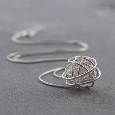 Nest Necklace Silver, 40€, now featured on Fab.