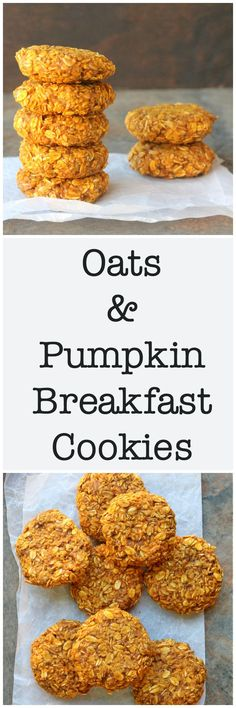 Oats & Pumpkin Breakfast Cookies are easy, flexible, and full of nutrients from peanut butter, flax seeds, and pumpkin.