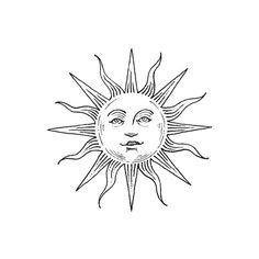 Brainsy Heart Sun Tattoo Design ❤ liked on Polyvore featuring accessories