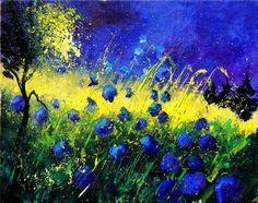 Pol Ledent- blue cornflowers