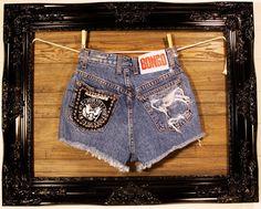 Ramones Vintage High Waisted Studded Bongo by VagrantVintageCo, $45.00
