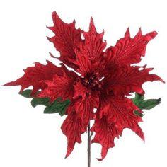 "RAZ Imports - Red Poinsettia Stem 26"""