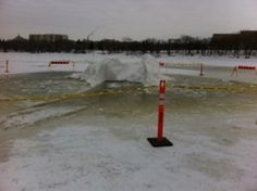 Warming Hut On Red River Nearly Sinks - http://www.newswinnipeg.net/warming-hut-on-red-river-nearly-sinks/