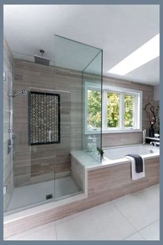 Beautiful master bathroom decor a few ideas. Modern Farmhouse, Rustic Modern, Classic, light and airy bathroom design tips. Bathroom makeover ideas and master bathroom remodel tips. Master Bathroom Shower, Bathroom Renos, Simple Bathroom, Bathroom Renovations, Bathroom Ideas, Bathroom Organization, Master Bathrooms, Minimal Bathroom, Bathroom Mirrors