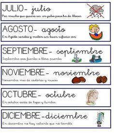 Los meses con frases