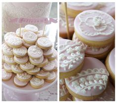 ONE LOVELY DAY: Pink & Vintage White Christening
