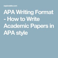 15 best apa style paper images on pinterest academic writing apa