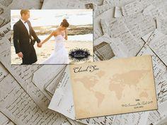 50 Wedding Thank You Cards  Travel Vintage Photo par FifthVintage, $59.00