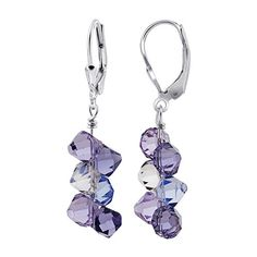 SCER009 Sterling Silver Blue, Lavender, Purple and Clear Crystal Earrings Made with Swarovski Elements Gem Avenue http://www.amazon.com/dp/B0007NI1QK/ref=cm_sw_r_pi_dp_V7y8vb13TG3MJ