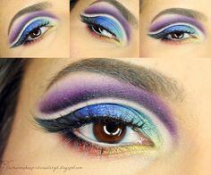 fashion&makeup: Colorful crease makeup