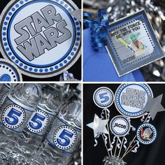 "CUTE Star Wars Party supplies in this Etsy Shop!  She has lots of other ""Parties To Go"" invitations and decor as well."