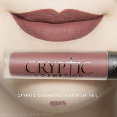 Cryptic Cosmetics Matte Lip Veil - Essex Application - 4 1/2 | Pigmentation - 4 | Longevity - 4 | Texture - 5 | Packaging - 5 | Overall - A- ($17) The formula is a slightly thinner liquid that went on smoothly with decent pigmentation. It didn't dry down too quickly so it was easy to work with. It felt very comfortable and it was transfer proof. There is a sweet scent that reminded me of brownies which of course I loved. After eating lunch it wore away only a small amount in the center, not…