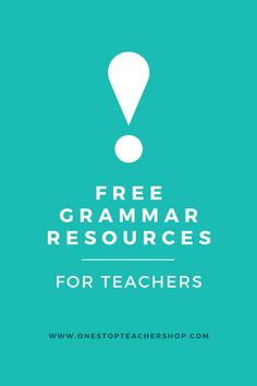 A collection of FREE Grammar Resources for teachers! These printable and digital Grammar Practice activities are perfect for daily review, language arts centers, distance learning, homework, morning work, and more! Be sure to download them all! Available for 1st Grade, 2nd, 3rd, 4th, 5th, 6th, 7th, and 8th. Grammar Games, Grammar Practice, Grammar Activities, Teaching Grammar, Grammar Review, Middle School Teachers, Word Study, Morning Work, Teacher Resources