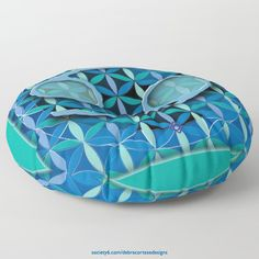 Round Floor Pillow CANCER_astrology_design_product_DebraCorteseDesigns Flower Of Life, My Flower, Flowers, Round Floor Pillow, Floor Pillows, Cancer Astrology, Create Image, Sacred Geometry, Decorative Bowls