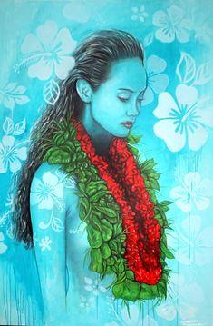Aloha - original art Portrait Art, Pet Portraits, Melbourne Art, Ink Pen Drawings, Portrait Illustration, Moon Art, Limited Edition Prints, Pattern And Decoration, Creative Art