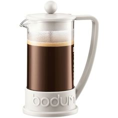 Bodum Brazil 3-Cup French Press Coffee Maker ($17) ❤ liked on Polyvore featuring home, kitchen & dining, kitchen gadgets & tools, food & drink, kitchen, white, bodum french press, bodum coffee press, french coffee press and white coffee maker