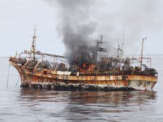 US Coast Guard sinks tsunami ghost ship off Alaska coast
