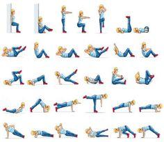Упражнения для похудения живота и бедер