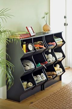 Hen House Storage Cubbies for toys in the playroom Cubby Storage, Garage Storage, Storage Ideas, Storage Solutions, Creative Storage, How To Store Shoes, Home Organization, Organizing, Cubbies